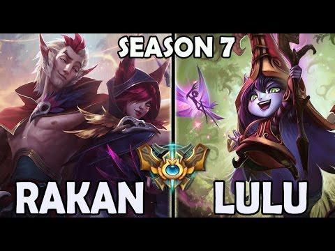 Rakan Support vs Lulu Ranked Challenger Korea (New Champion)