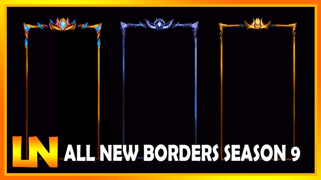 New Borders Emblems Season 9 Lol S9 League Of Legends 2018