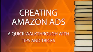 Tips and trick for creating a sponsored keyword ad on the Amazon Advertisement platform.