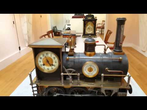 French Guilmet industrial Locomotive clock, circa 1890