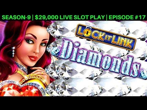 Lock It Link Diamonds Slot Machine Live Play & $10 Bet Bonus | Season 9 | Episode #17