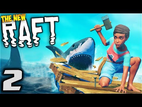 RAFT - Land Ho! - Let's Play Raft Multiplayer Gameplay Part 2 (New Multiplayer Raft Survival Game)