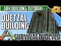 ARK BUILDING TIPS/TUTORIAL - HOW TO BUILD A BOX QUETZAL - RAIDING AND FARMING QUETZ BUILD!