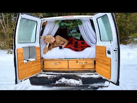 Solo Female Van Life; Winter Camping