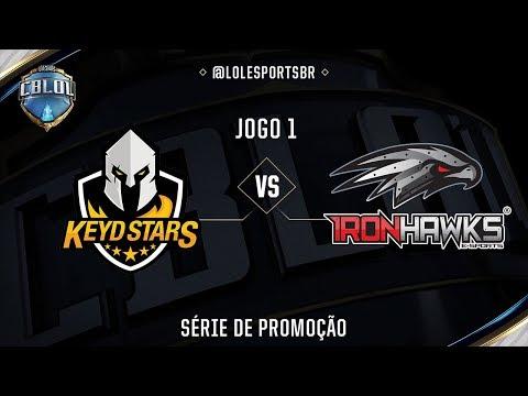 Keyd Stars x Iron Hawks (Jogo 1 - Série de Promoção - Dia 1) - CBLoL 2017