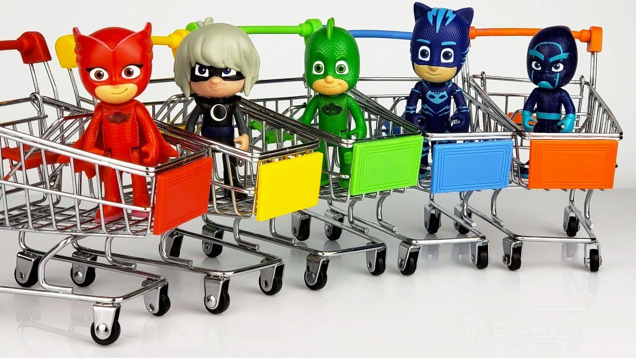 Pj Masks Toys Wrong Head Learn Colors With Ice Cream Cones And Color Balls Finger Paints