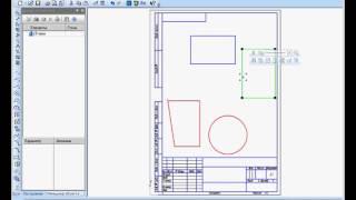 Создание чертежей. Общие приёмы работы с видами в Комас 3D