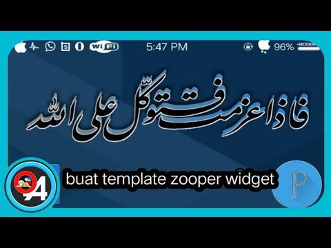 buat template widget ARAB custom |ZOOPER WIDGET PRO & PIXELLAB