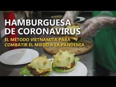 Hamburguesas con forma de coronavirus
