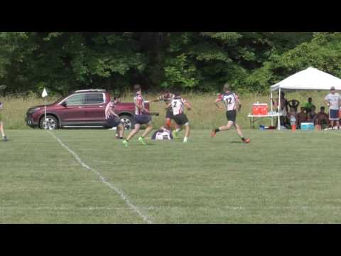 Alex French making a great run in Nokesville, VA Rugby 7 Tournament 7-15-2017