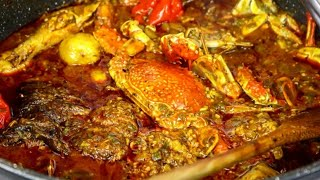 Soupe Kandia fruit de mer| Gambian Seafood Okra Stew |Sauce Gombo Gambiene