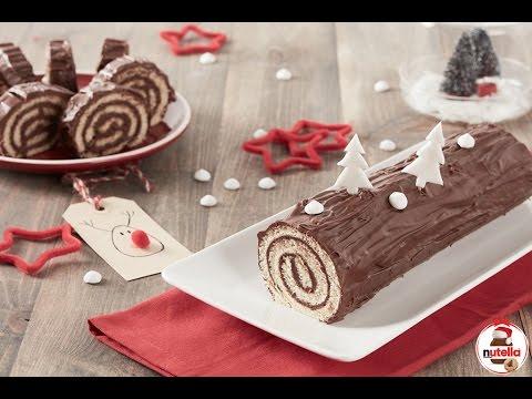 Come Decorare Un Tronchetto Di Natale.Tronchetto Di Natale Con Nutella