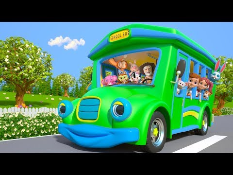 Wheels on the Bus | Kindergarten Nursery Rhymes for Children | Cartoons for Kids | Little Treehouse