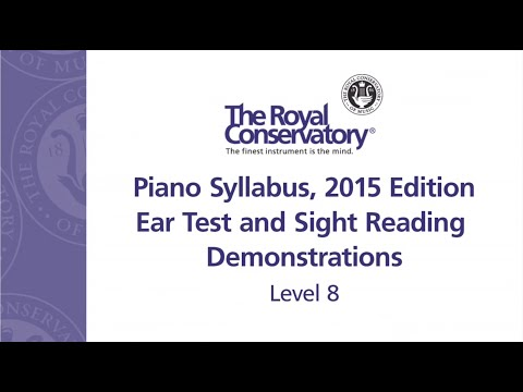 Ear Training and Sight Reading Requirements: Level 8
