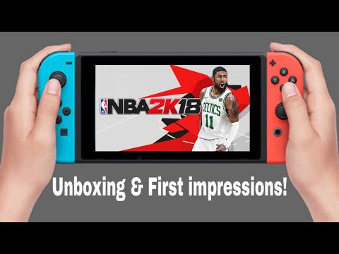 NBA 2k18 Nintendo Switch Unboxing!// First Impressions// Storage Details// Single Joycon Gameplay