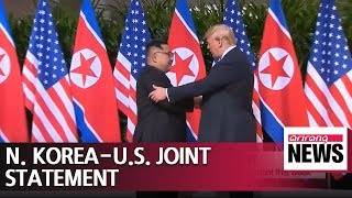 N. Korea, U.S. to work on details of their joint statement this week