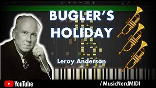 Bugler's Holiday - Leroy Anderson - Synthesia [HD] w/ Highlighted trio