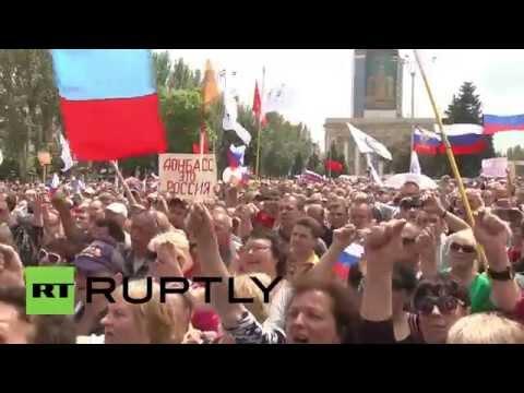 Ukraine: Donetsk rallies