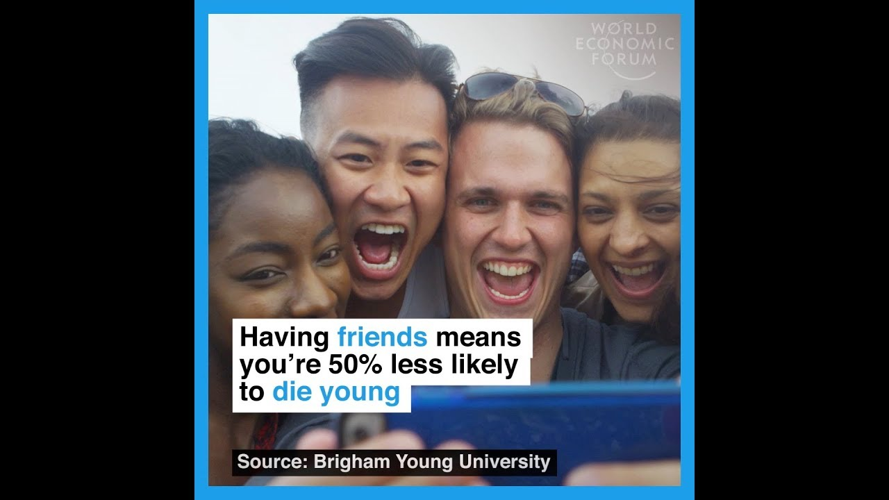 Having friends means you're 50% less likely to die young