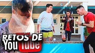 ¡¡HACEMOS TODOS LOS RETOS DE YOUTUBE EN 1 DÍA!! CON BYTARIFA THESHOOTERCOC Y LOGAN G