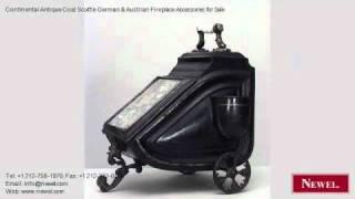 Continental Antique Coal Scuttle German & Austrian Fireplace