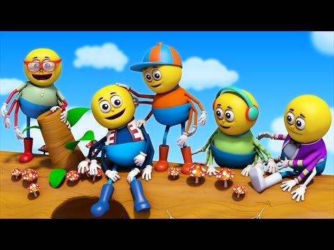 Five Little Spiders | nursery rhymes | kids songs | 3d rhymes by Farmees
