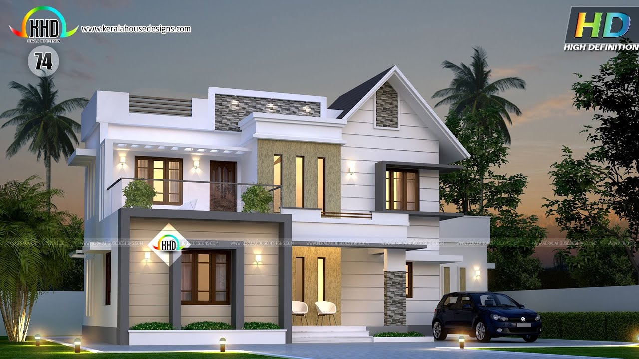 contemporary 2 story kerala home design 2400 sq ft dream. new
