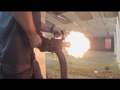 Gun Test: Firing Empty Shell's Handheld XM556 Microgun