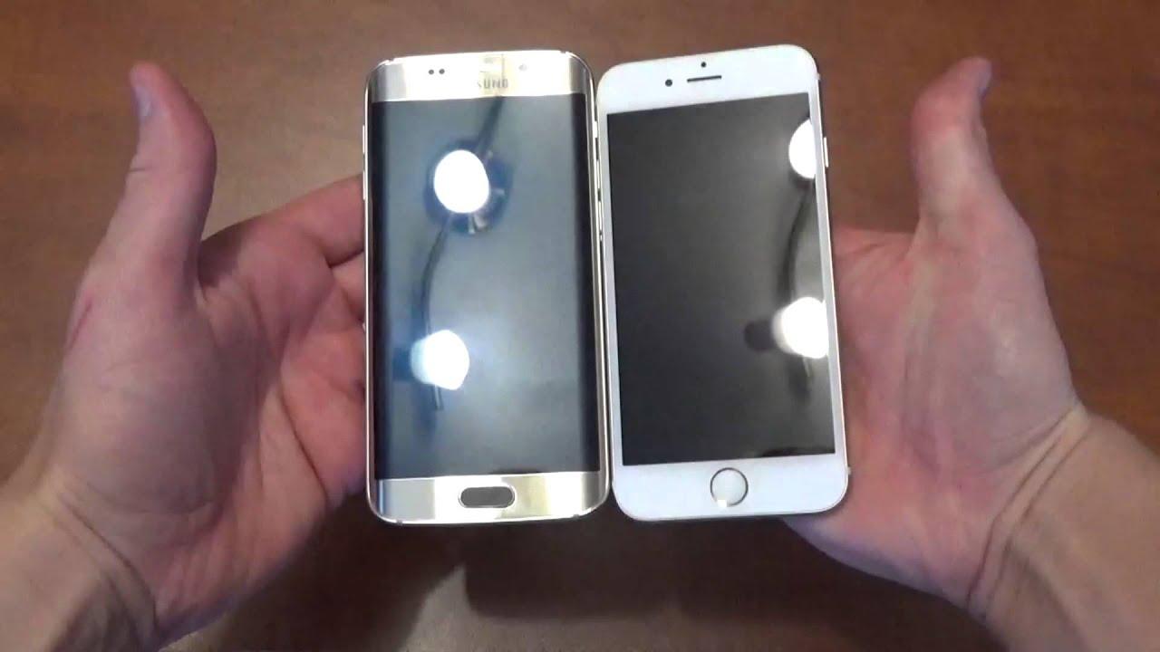 samsung galaxy s6 gold vs iphone 6 gold. samsung galaxy s6 edge gold vs iphone 6 exterior comparison gold s
