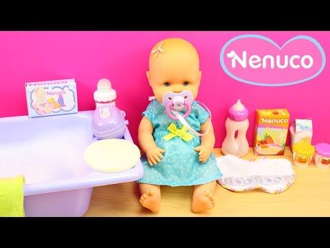 Beb nenuco merienditas la beb come papilla y hace p - Nenuco bano de burbujas ...
