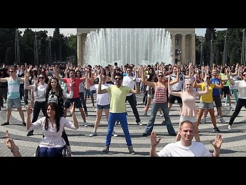 Видео, Wheelz GENTLEMAN Flashmob in Baku  PSY  BEP  Usher