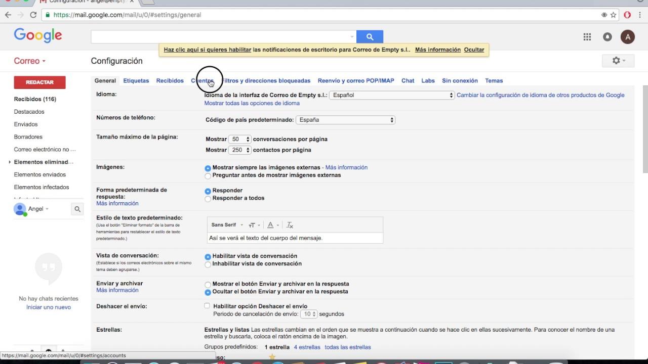 Cómo Visualizar Otras Cuentas De Correo En Gmail Youtube