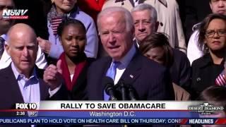 WATCH: Joe Biden Rallies to Save Obamacare on Capitol Hill (FNN)