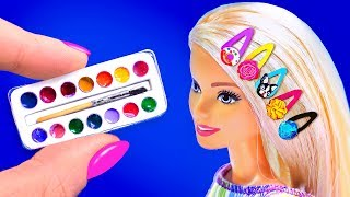26 DIY BARBIE IDEAS ~ Miniature Paints, Hairpins, Donuts, Toothpaste AND MORE!
