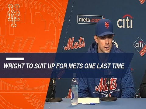 David Wright gets emotional about playing again