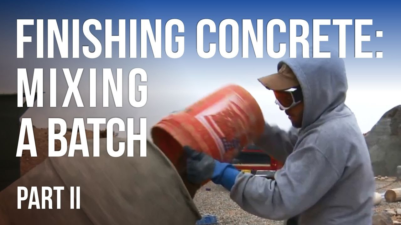 Finishing A Concrete Wall 2 How To Mix Batch
