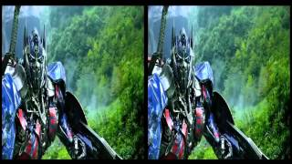 3D SBS Transformers Age of Extinction   Optimus Prime Speech   The Battle Begins Dinobots Charge