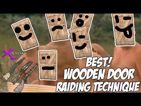 New Wooden Door Raiding Technique Rust 2017 Youtube