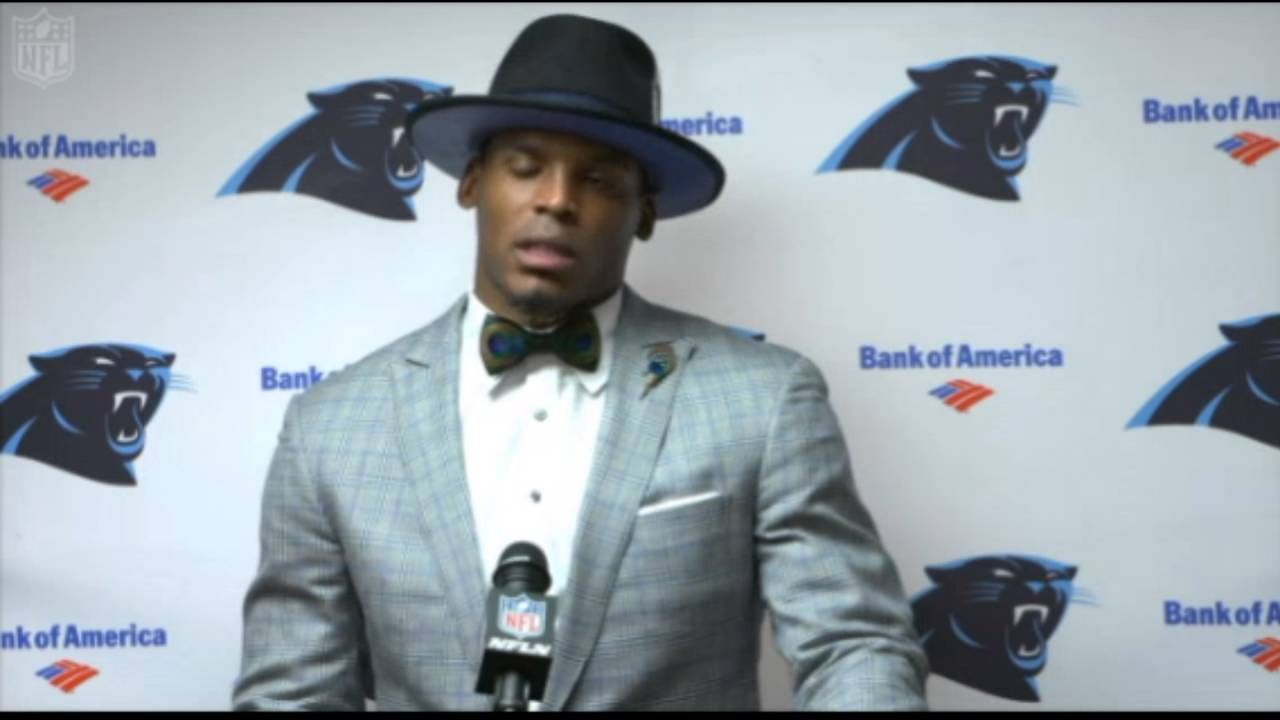 cam newton post game conference