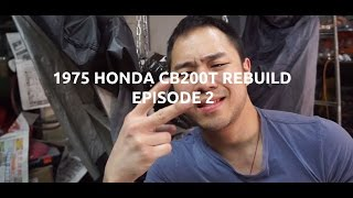 How to Spray Paint your Motorcycle Frame and Engine VHT High Temp CB200T EP2