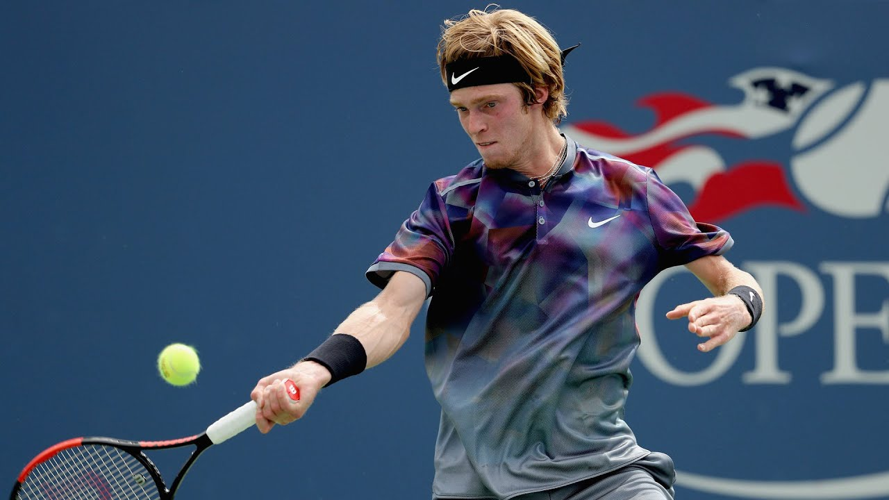 2017 US Open: Andrey Rublev match point - YouTube