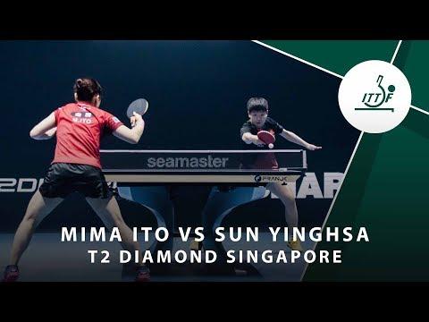 Mima Ito Vs Sun Yingsha   T2 Diamond Singaopore (Final)