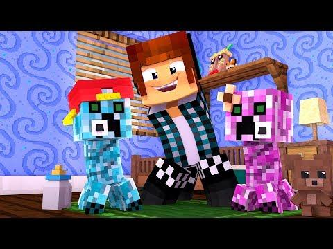O CREEPER AUTHENTIC TEVE UM FILHO !! - [ Vida de Creeper #8 ] - Minecraft