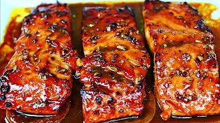 Honey Garlic Glazed Salmon Recipe - Easy Salmon Recipe
