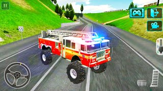 Firetruck & Ambulance Monster Trucks Driving Game - OffRoad and City Roads - Android Gameplay