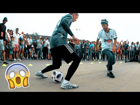 CRAZY PANNA AT THE FINAL WORLD CUP | PAVLINOFF VS FANS | FOOTBALL FREESTLYLE