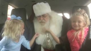 Riding with Santa in Santa Claus, Indiana