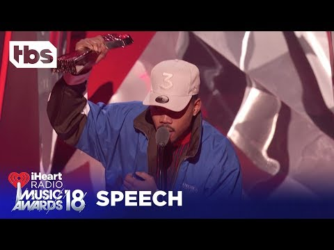 Pharrell Gives Chance the Rapper Innovator of the Year Award: 2018 iHeartRadio Music Awards | TBS