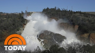 Evacuation orders now in full operation for Orville the dam is seriously threatened. 770 feet high