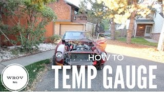 How to install a temp gauge